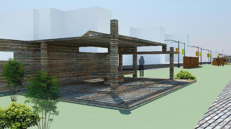 Терраса микрорайону - архитектурные решения с материалами Террадек. Улучшение жилой среды типового микрорайона с использованием террасирования.